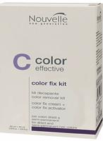 Засіб для видалення з волосся відтінкової фарби та прямих барвників Nouvelle Color Fix Kit