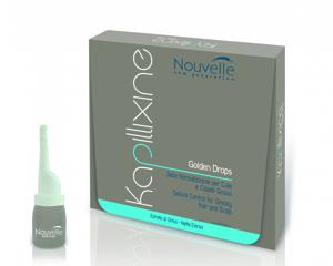 Ампулы для жирных волос с экстрактом крапивы Nouvelle Golden Drops